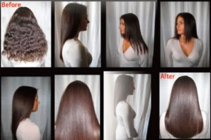 Brasilian Keratin Treatment Before/After